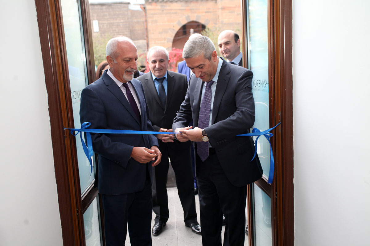 "Vahan Martirosyan participated in the opening ceremony of ""Synergy International Systems"" company, Gyumri branch"
